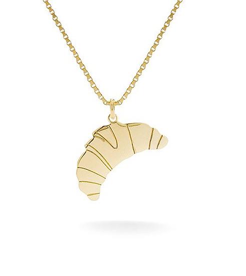 Croissant Halskette Gold