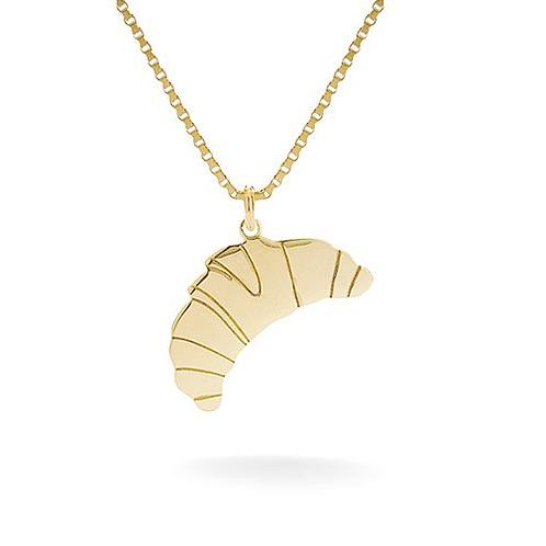 Croissant Necklace Gold