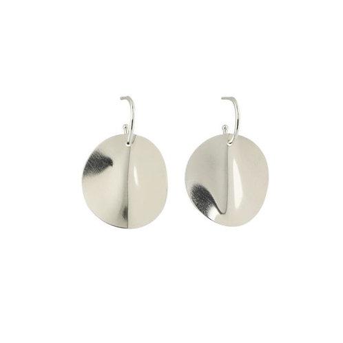 Große ONDE Ohrringe Silber