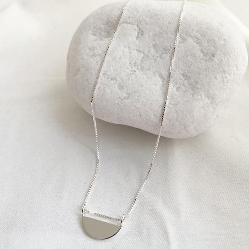 Lange Rising Sun Halskette Silber