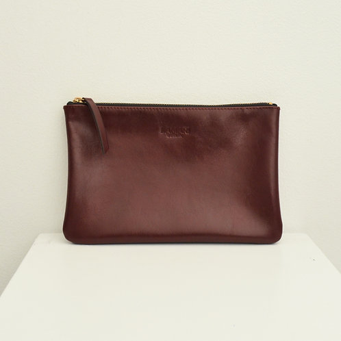 Leather Cosmetic Bag Bordeaux JUNE BIG