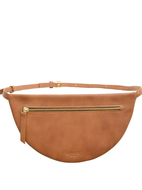 MOON Hip Bag XL Leather Cognac