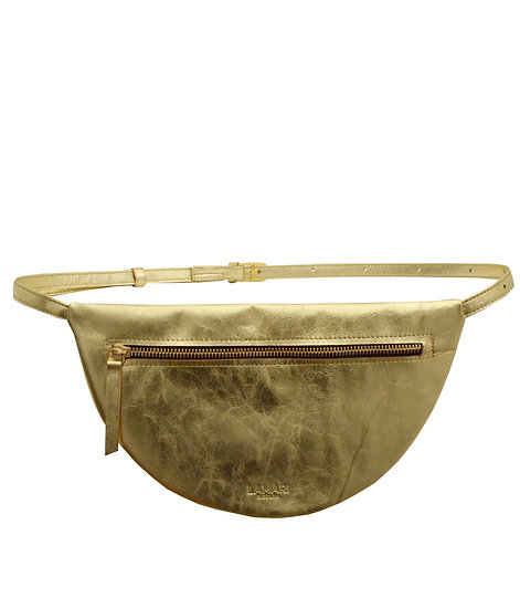 MOON Hip Bag XL Leather Gold