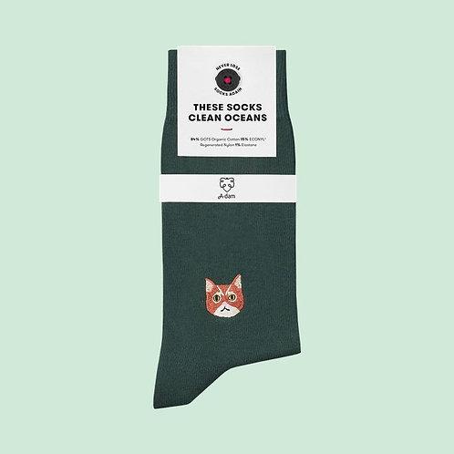 Socken aus Biobaumwolle Katze SAMMI