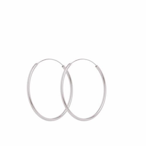 Midi Hoops Silver