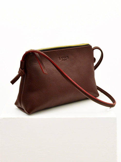 LOLA BAG Bordeaux genarbt