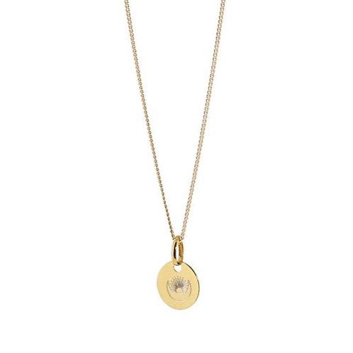 Lange Sun / Moon Halskette Gold