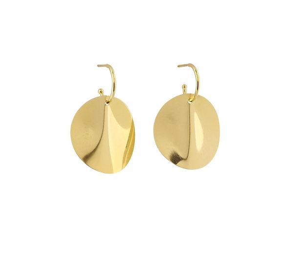 Große Ohrringe Gold ONDE