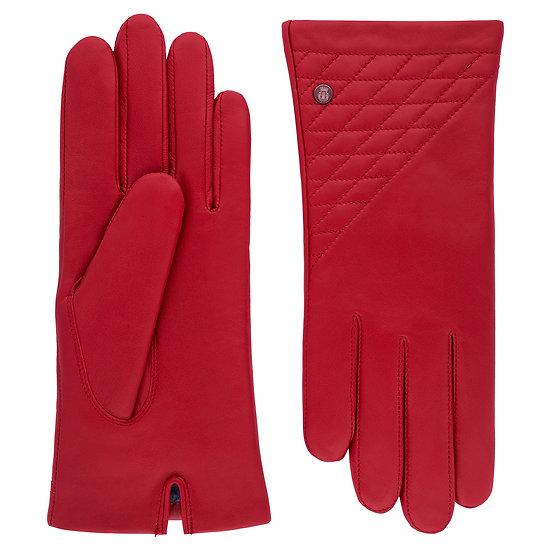 LEEDS Lederhandschuhe Rot