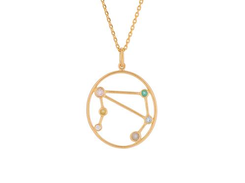 Sternzeichen Halskette Gold Waage