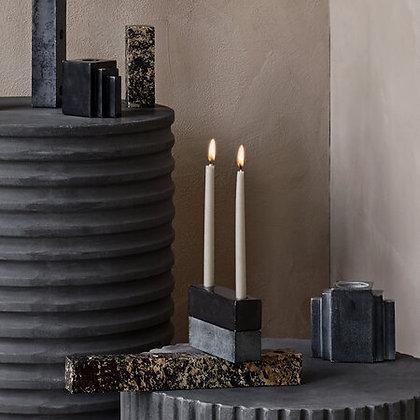 Schwarzer Marmor Kerzenständer Ellen