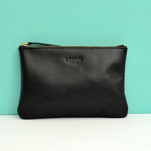 Leather Cosmetic Bag Black JUNE BIG