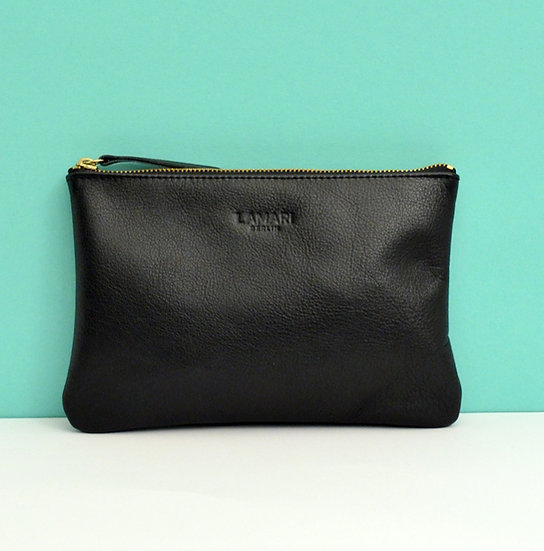 Leather Cosmetic Bag Black JUNE BIG