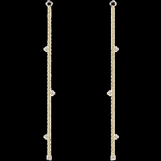 Lange Fierce Ohrringe Gold