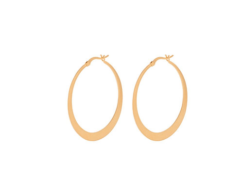 Small Escape Hoops Gold