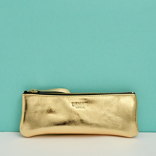 Leather Pencil Case Gold