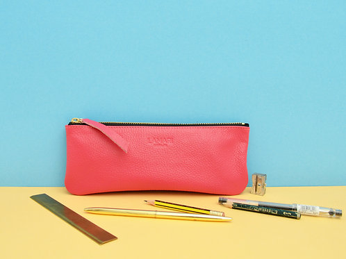 Leather Pencil Case Pink