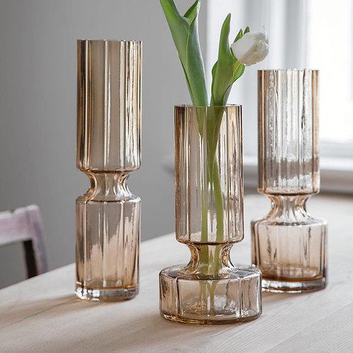 Hyacinth Glas Vase Indian Tan