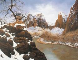 River Mountain Landscape