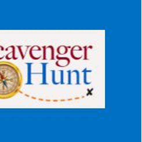 THE HUNT IS ON.         Community Scavenger Hunt (1)