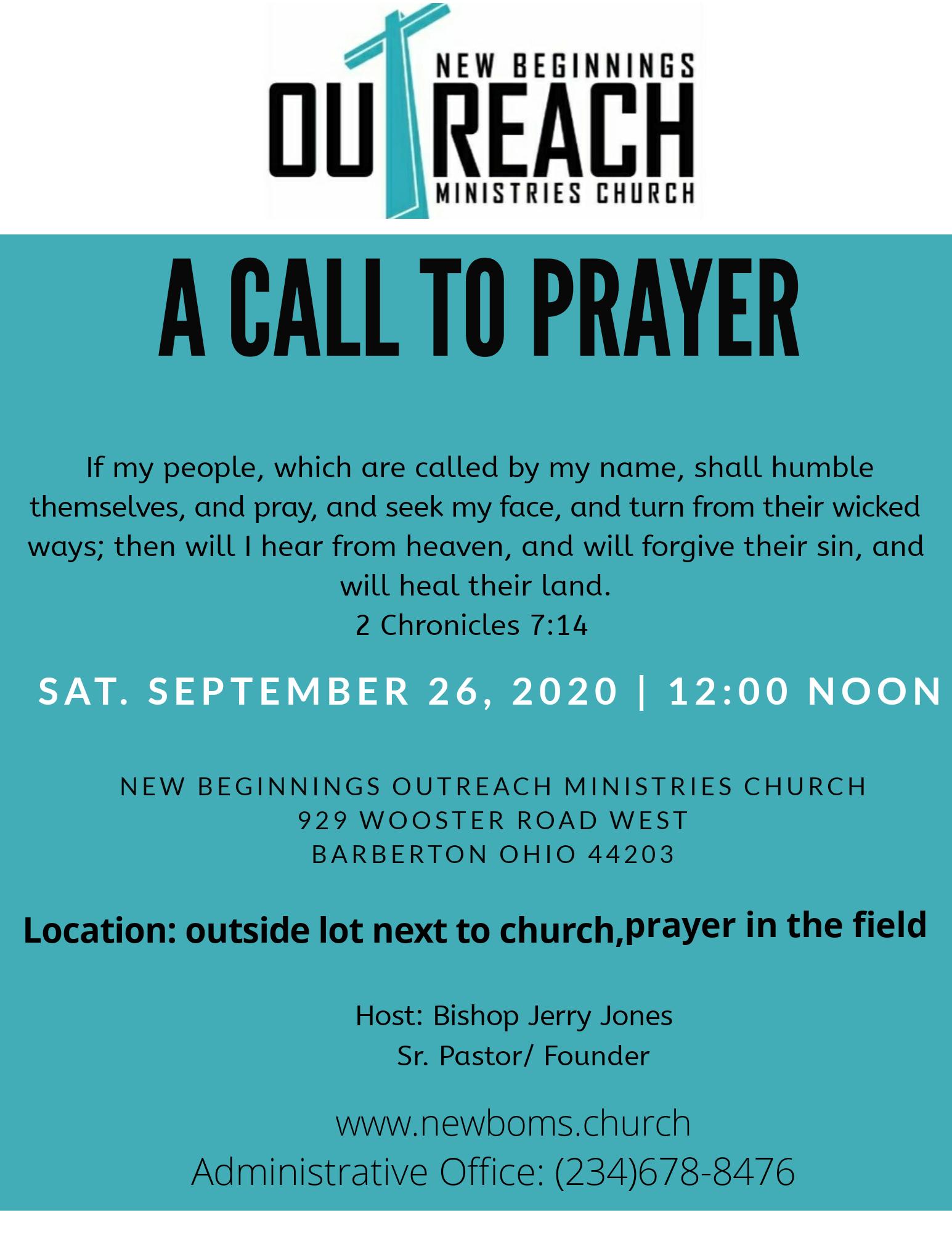 prayer flyer september