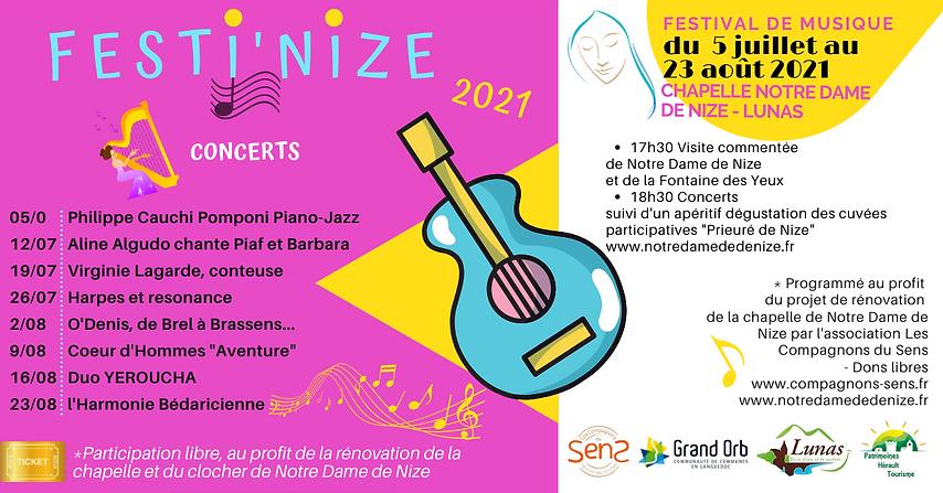 Festi'Nize 2021 festival de musique à Notre Dame de Nize Lunas.png