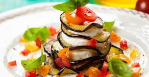 Millefeuille aubergines tomates & Mozarella Di bufala Campana ! Un trésor de goût - et de qualité !