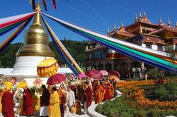 Temple Boudhiste de Lerab Ling Crédit ph