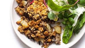 Confit de canard en crumble noisettes & poires : un régal sucré salé de fête & de saison !