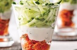 Fraiche, rapide et délicieuse, La Verrine concombre & saumon fumé !