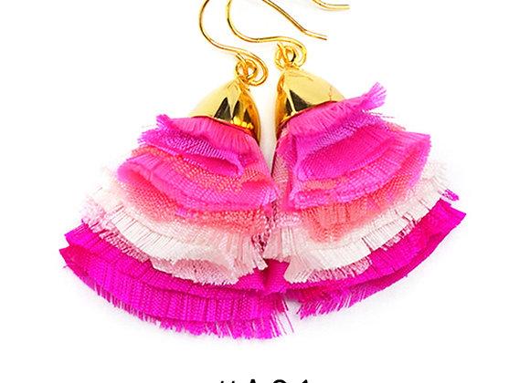 La Orr - Blossom Ballet Earrings (fuchsia,pink)