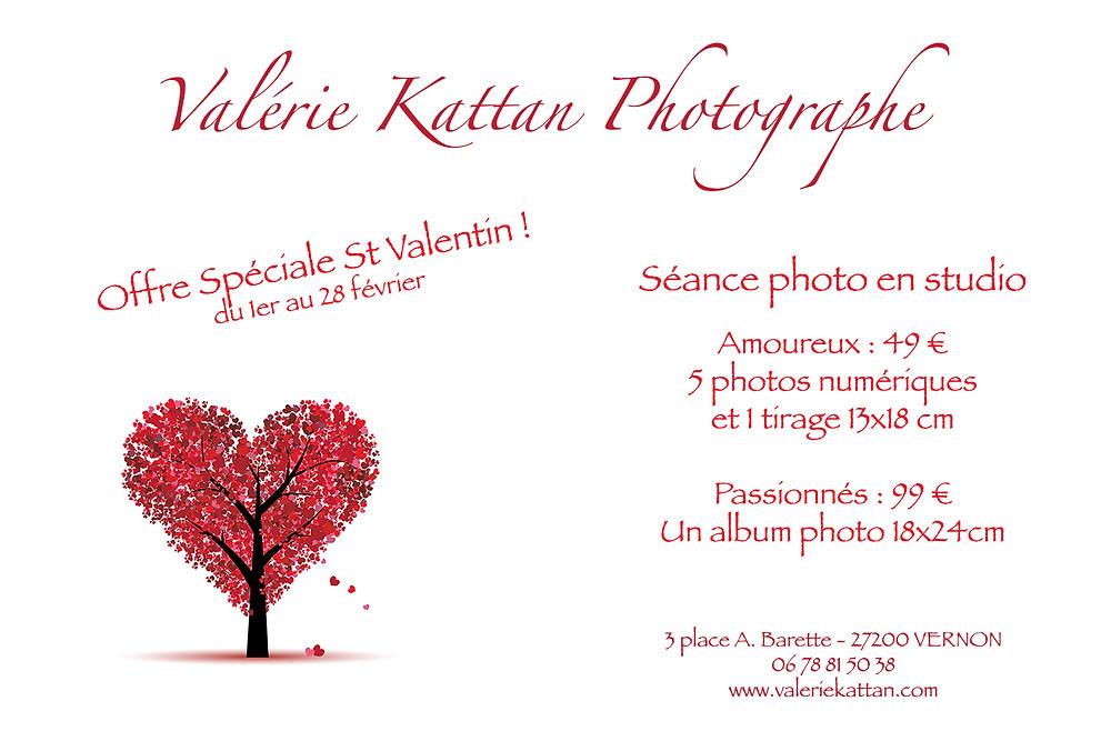 Affiche offre spéciale photos St Valentin
