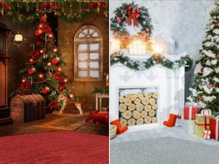 Fonds de décor de Noël