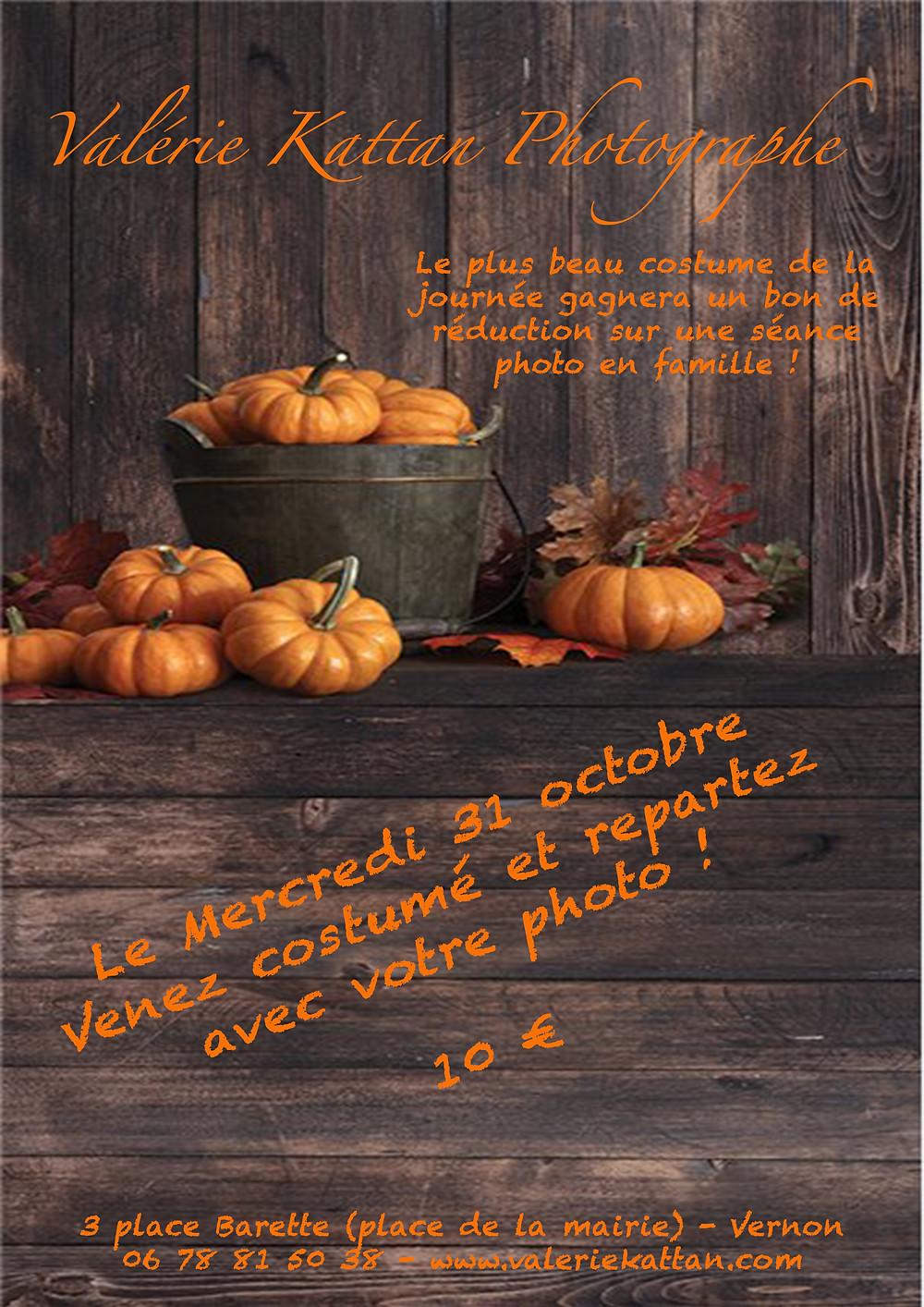 Flyer pour les photos d'halloween