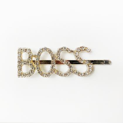 BOSS Gold Hair Clip