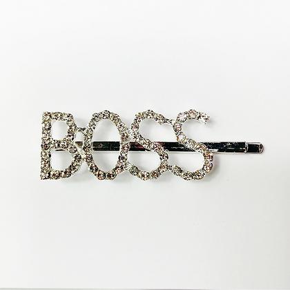 BOSS Silver Hair Clip