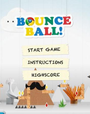 """Google Chrome """"Bounce ball"""""""