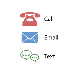 call,email,text