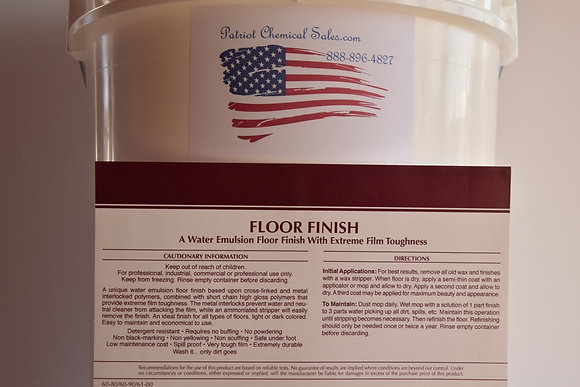 5 GAL PAIL FLOOR FINISH 25% SOLIDS
