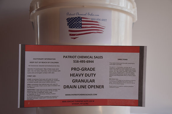 50 LB DRAIN LINE OPENER HD SEWER CHEMICAL