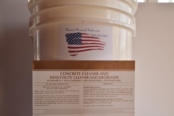 5 GAL PAIL CONCRETE CLEANER DEGREASER CONC.
