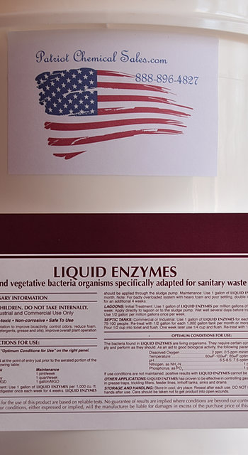 Patriot Chemical Sales Liquid Enzymes Concentrate Sewer