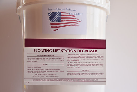 5 Gal HD Citrus Floating Lift Station Degreaser