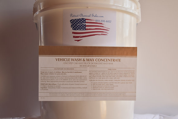 1 GAL VEHICLE WASH & WAX CONCENTRTE