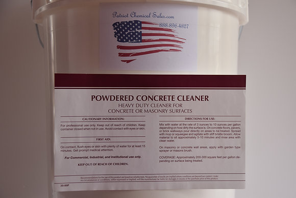 50 LBS Powdered Concrete Cleaner