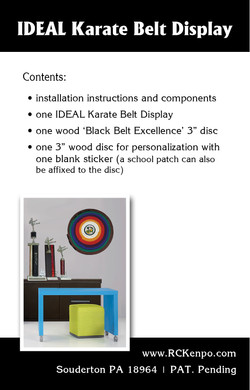 Ideal Belt Display Box - back
