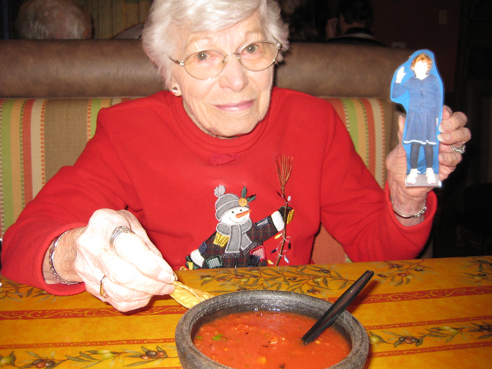 Flat Rose & Great-Grandma.JPG