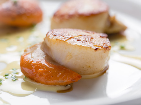 From Restaurant to Home: Hand Dived Scallops with Chive Butter Sauce