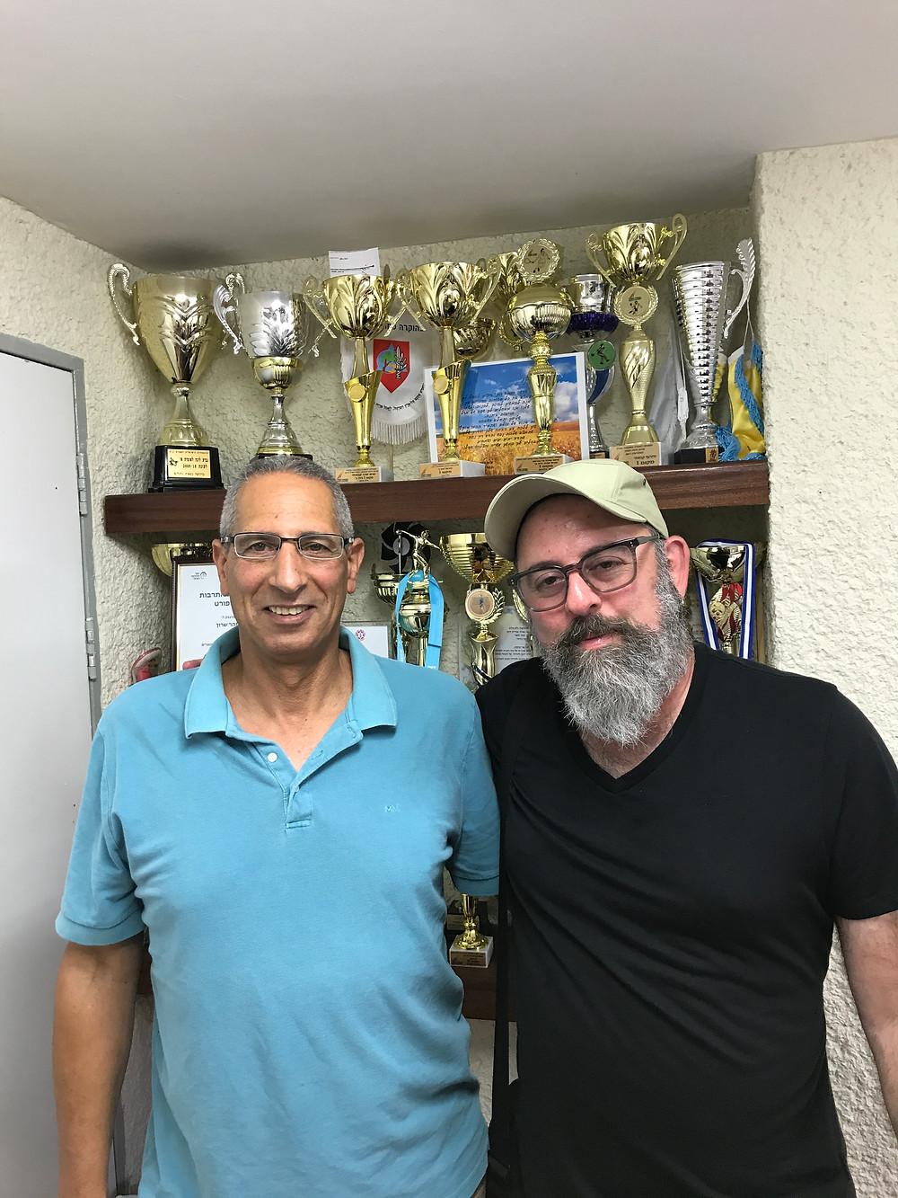 with Haifa director, Itzik Shoham (on left)