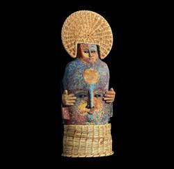 Relmu,Arc-en -Ciel,70x26x14cm,Terre cuit
